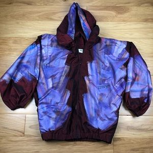 Vintage Hand Painted Art Windbreaker